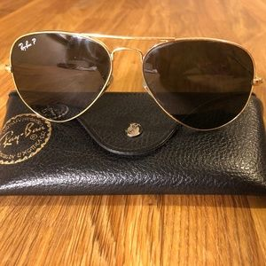 Ray-Ban Aviator Sunglasses - Gold, Brown Gradient
